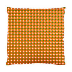Heart-Shaped Clover Shamrock On Orange St. Patrick s Day Standard Cushion Case (Two Sides)