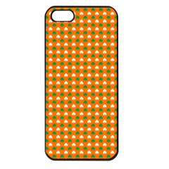 Heart-Shaped Clover Shamrock On Orange St. Patrick s Day Apple iPhone 5 Seamless Case (Black)