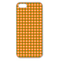 Heart-Shaped Clover Shamrock On Orange St. Patrick s Day Apple Seamless iPhone 5 Case (Clear)