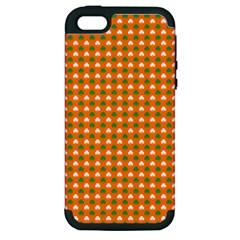 Heart Shaped Clover Shamrock On Orange St  Patrick s Day Apple Iphone 5 Hardshell Case (pc+silicone)