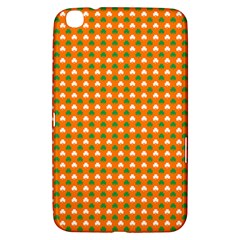 Heart-Shaped Clover Shamrock On Orange St. Patrick s Day Samsung Galaxy Tab 3 (8 ) T3100 Hardshell Case