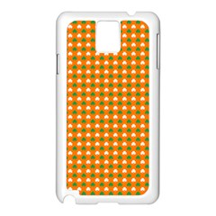 Heart-Shaped Clover Shamrock On Orange St. Patrick s Day Samsung Galaxy Note 3 N9005 Case (White)