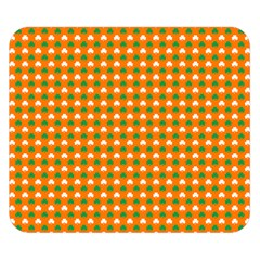 Heart-Shaped Clover Shamrock On Orange St. Patrick s Day Double Sided Flano Blanket (Small)