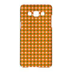 Heart-Shaped Clover Shamrock On Orange St. Patrick s Day Samsung Galaxy A5 Hardshell Case
