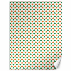 Orange And Green Heart-Shaped Shamrocks On White St. Patrick s Day Canvas 36  x 48