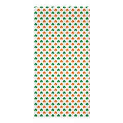 Orange And Green Heart-Shaped Shamrocks On White St. Patrick s Day Shower Curtain 36  x 72  (Stall)