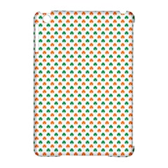 Orange And Green Heart-Shaped Shamrocks On White St. Patrick s Day Apple iPad Mini Hardshell Case (Compatible with Smart Cover)