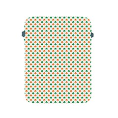 Orange And Green Heart-Shaped Shamrocks On White St. Patrick s Day Apple iPad 2/3/4 Protective Soft Cases