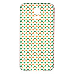 Orange And Green Heart-Shaped Shamrocks On White St. Patrick s Day Samsung Galaxy S5 Back Case (White)