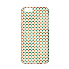 Orange And Green Heart-Shaped Shamrocks On White St. Patrick s Day Apple iPhone 6/6S Hardshell Case