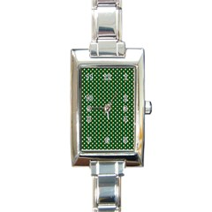 Irish Flag Green White Orange on Green St. Patrick s Day Ireland Rectangle Italian Charm Watch