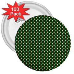 Irish Flag Green White Orange on Green St. Patrick s Day Ireland 3  Buttons (100 pack)