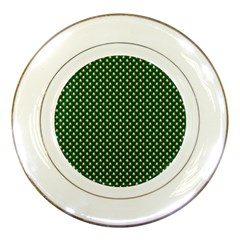 Irish Flag Green White Orange on Green St. Patrick s Day Ireland Porcelain Plates