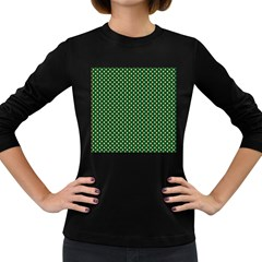 Irish Flag Green White Orange on Green St. Patrick s Day Ireland Women s Long Sleeve Dark T-Shirts