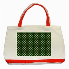 Irish Flag Green White Orange on Green St. Patrick s Day Ireland Classic Tote Bag (Red)