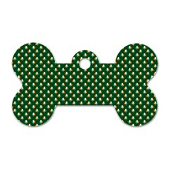 Irish Flag Green White Orange on Green St. Patrick s Day Ireland Dog Tag Bone (Two Sides)