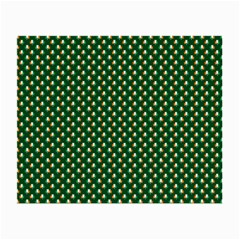 Irish Flag Green White Orange on Green St. Patrick s Day Ireland Small Glasses Cloth (2-Side)