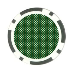 Irish Flag Green White Orange on Green St. Patrick s Day Ireland Poker Chip Card Guard (10 pack)