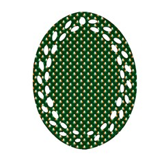 Irish Flag Green White Orange on Green St. Patrick s Day Ireland Ornament (Oval Filigree)
