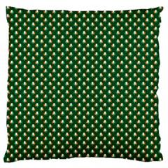 Irish Flag Green White Orange on Green St. Patrick s Day Ireland Large Cushion Case (One Side)