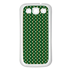 Irish Flag Green White Orange on Green St. Patrick s Day Ireland Samsung Galaxy S3 Back Case (White)