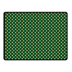 Irish Flag Green White Orange on Green St. Patrick s Day Ireland Double Sided Fleece Blanket (Small)