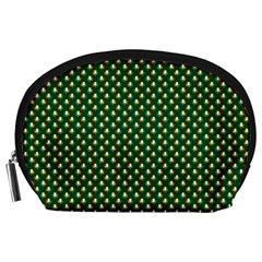 Irish Flag Green White Orange on Green St. Patrick s Day Ireland Accessory Pouches (Large)