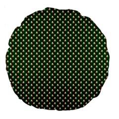 Irish Flag Green White Orange on Green St. Patrick s Day Ireland Large 18  Premium Flano Round Cushions