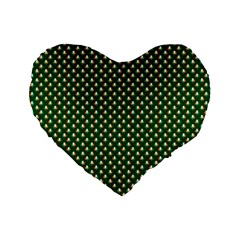 Irish Flag Green White Orange On Green St  Patrick s Day Ireland Standard 16  Premium Flano Heart Shape Cushions