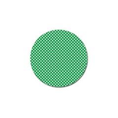 White Shamrocks On Green St. Patrick s Day Ireland Golf Ball Marker (4 pack)