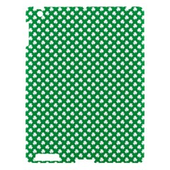 White Shamrocks On Green St. Patrick s Day Ireland Apple iPad 3/4 Hardshell Case