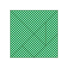 White Shamrocks On Green St. Patrick s Day Ireland Acrylic Tangram Puzzle (4  x 4 )