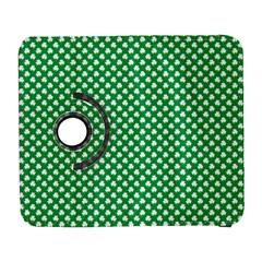 White Shamrocks On Green St. Patrick s Day Ireland Galaxy S3 (Flip/Folio)
