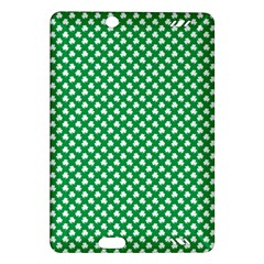 White Shamrocks On Green St. Patrick s Day Ireland Amazon Kindle Fire HD (2013) Hardshell Case