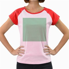 Green Shamrock Clover on White St. Patrick s Day Women s Cap Sleeve T-Shirt