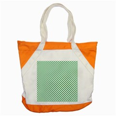 Green Shamrock Clover on White St. Patrick s Day Accent Tote Bag