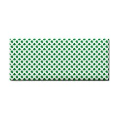 Green Shamrock Clover on White St. Patrick s Day Cosmetic Storage Cases