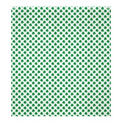 Green Shamrock Clover on White St. Patrick s Day Shower Curtain 66  x 72  (Large)