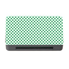 Green Shamrock Clover on White St. Patrick s Day Memory Card Reader with CF