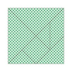 Green Shamrock Clover on White St. Patrick s Day Acrylic Tangram Puzzle (6  x 6 )