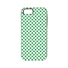 Green Shamrock Clover on White St. Patrick s Day Apple iPhone 5 Classic Hardshell Case (PC+Silicone)