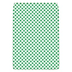 Green Shamrock Clover on White St. Patrick s Day Flap Covers (L)
