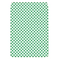 Green Shamrock Clover on White St. Patrick s Day Flap Covers (S)