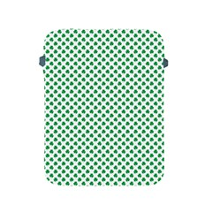 Green Shamrock Clover on White St. Patrick s Day Apple iPad 2/3/4 Protective Soft Cases