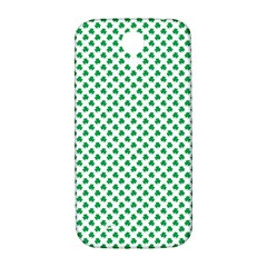 Green Shamrock Clover on White St. Patrick s Day Samsung Galaxy S4 I9500/I9505  Hardshell Back Case
