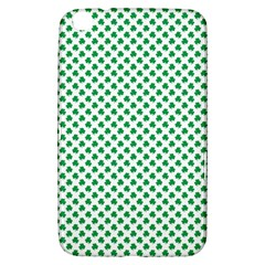 Green Shamrock Clover on White St. Patrick s Day Samsung Galaxy Tab 3 (8 ) T3100 Hardshell Case