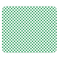 Green Shamrock Clover on White St. Patrick s Day Double Sided Flano Blanket (Small)