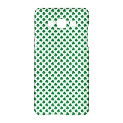 Green Shamrock Clover on White St. Patrick s Day Samsung Galaxy A5 Hardshell Case
