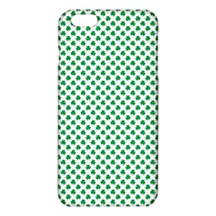 Green Shamrock Clover on White St. Patrick s Day iPhone 6 Plus/6S Plus TPU Case