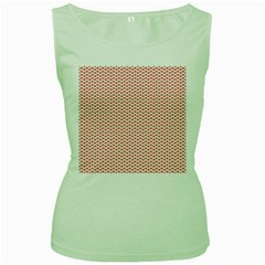 Lipstick Red Kisses Lipstick Kisses Women s Green Tank Top